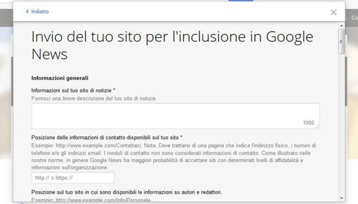 Google News: come includere un sito