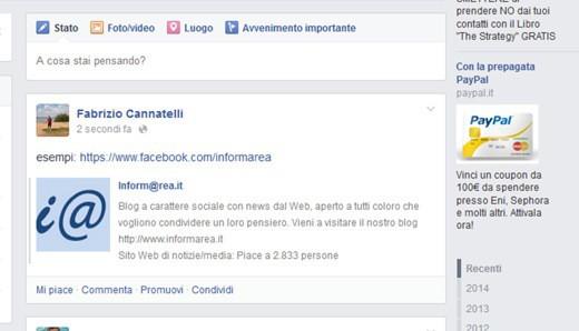 Pagina Fan di Facebook