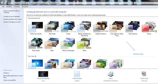 Personalizzare il desktop