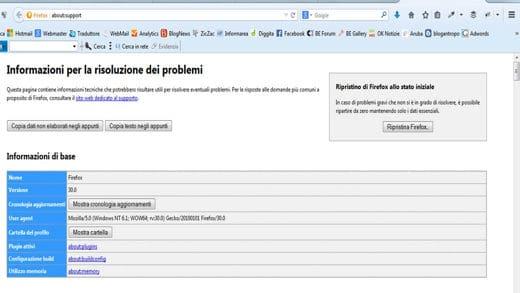 Ripristinare Mozilla Firefox