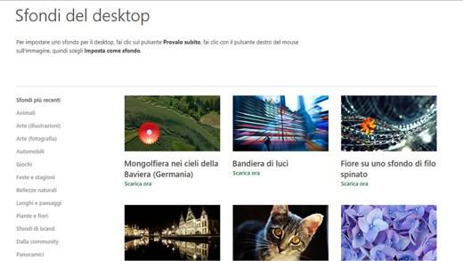 Sfondi del Desktop di Microsoft