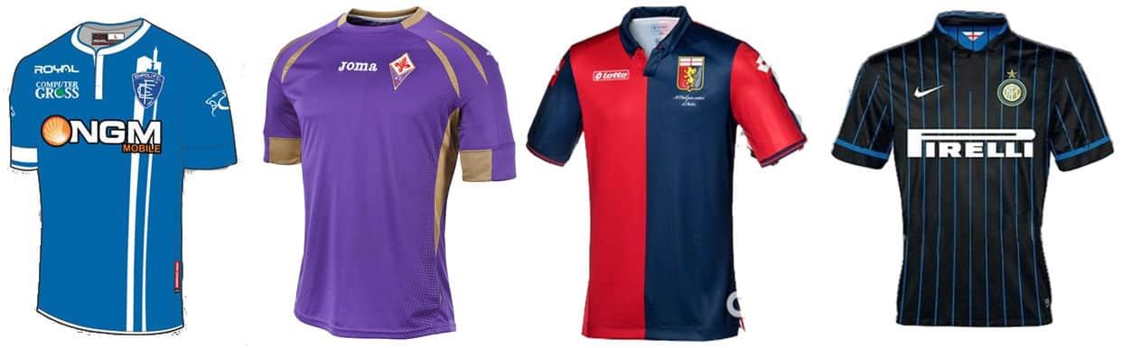 Formazioni e maglie di Empoli, Fiorentina, Genoa e Inter
