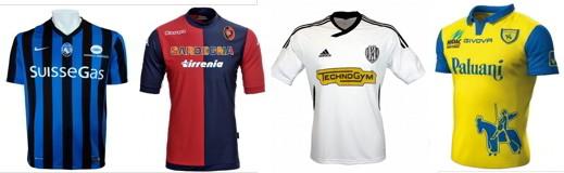 Le maglie di Atalanta, Cagliari, Cesena e Chievo 2014-15