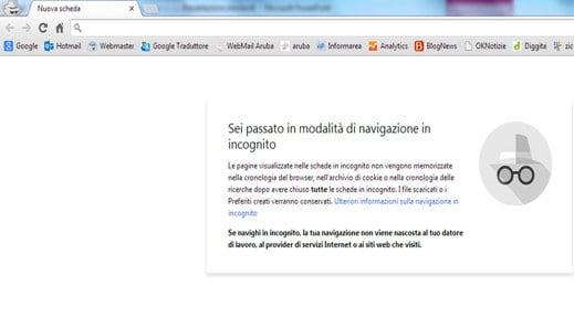 Navigazione anonima con Chrome