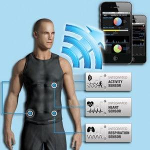 Fitness - Canottiera elastica con sensori