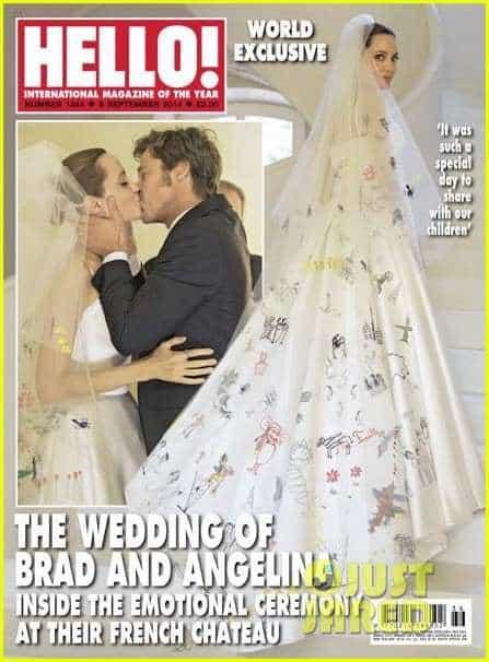 Bradi Pitt e Angelina Jolie sposi