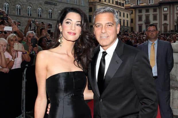 Amal Amauddin e George Clooney a Venezia