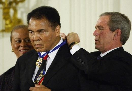 Ali e la Medaglia presidenziale della libertà