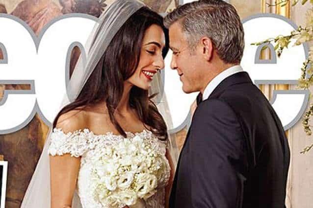 Clooney e Amal sposi