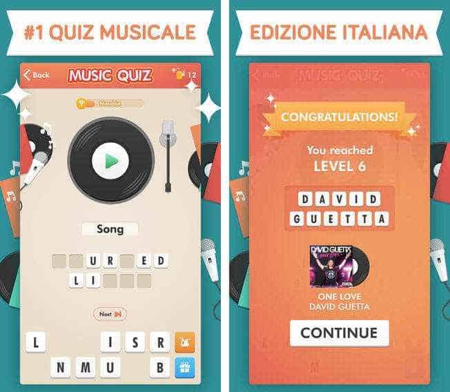 Soluzioni Music Quiz