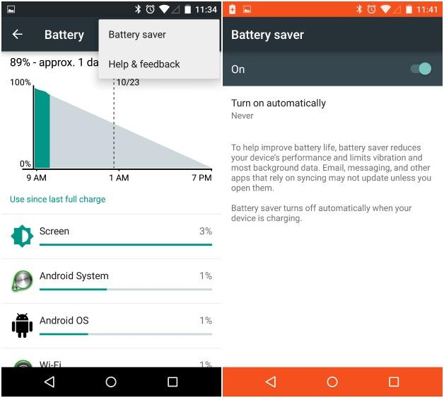 Batteria Android Lollipop