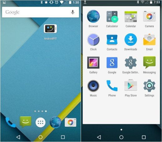 Material design Android Lollipop