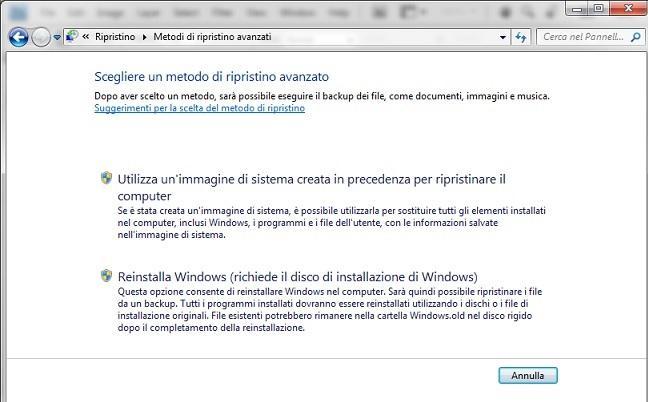 backup ripristina computer immagine di sistema - Come ripristinare file, cartelle, programmi e impostazioni o intero disco rigido con Windows 7