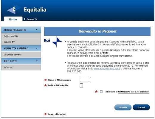Come pagare il canone rai con carta di credito informarea - Abbonamento rai pagamento ...