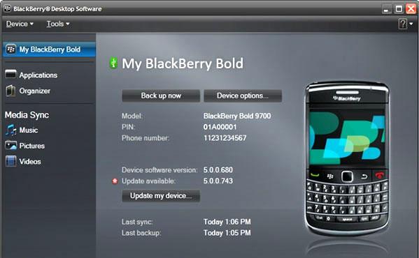 rubrica telefonica da blackberry a pc