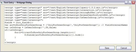 Codice Javascript