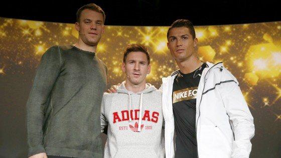 Ronaldo,messi,neuer