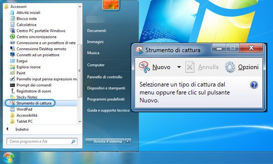 Strumento di Cattura Windows