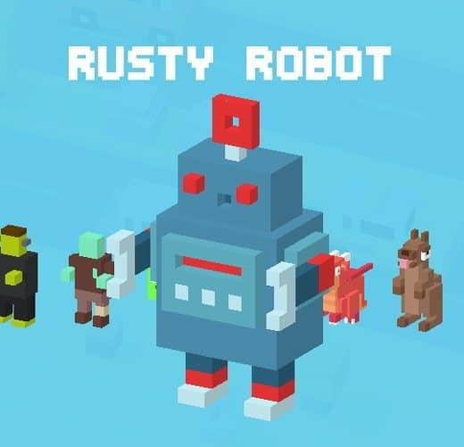 36 CrossyRoad Robot Arruginito - Tutti i personaggi base di Crossy Road: caratteristiche e dettagli