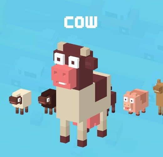 8 CrossyRoad Mucca - Tutti i personaggi base di Crossy Road: caratteristiche e dettagli