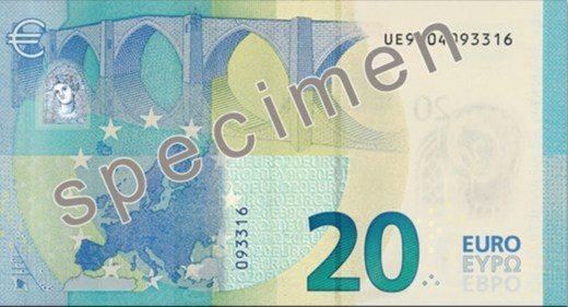 Nuove 20 euro retro