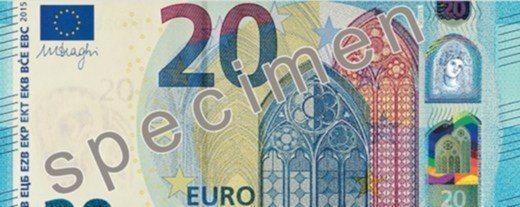 nuove 20 euro fronte