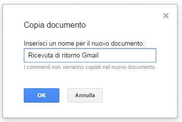 gmail conferma lettura