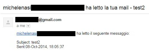 notifica di lettura gmail