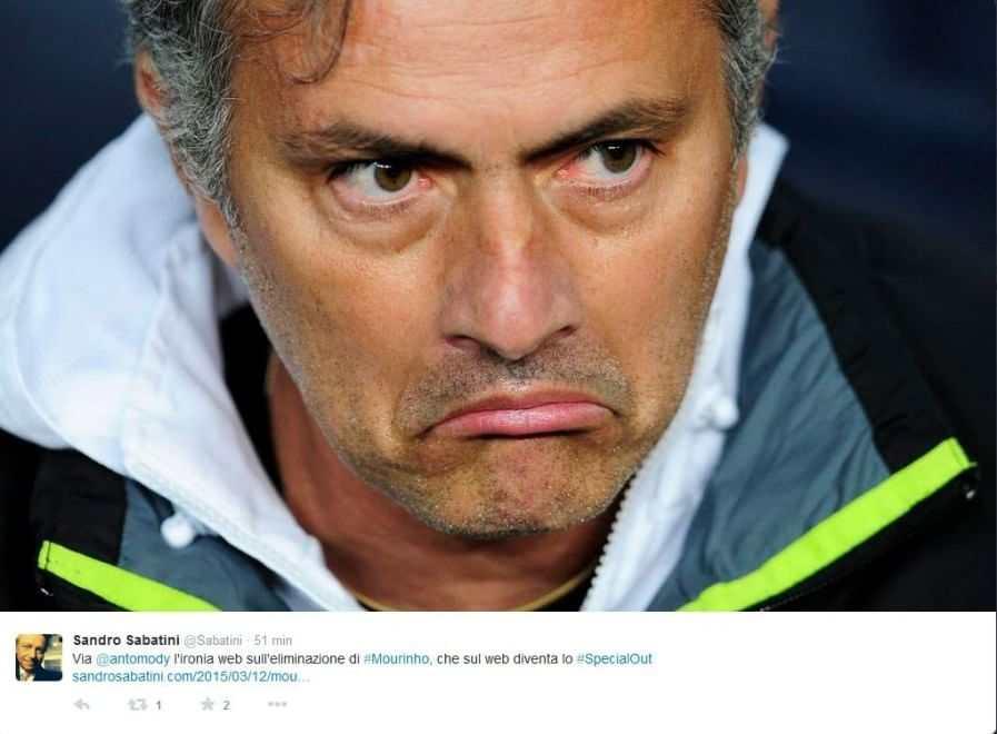Mourinho preso in giro dalla rete