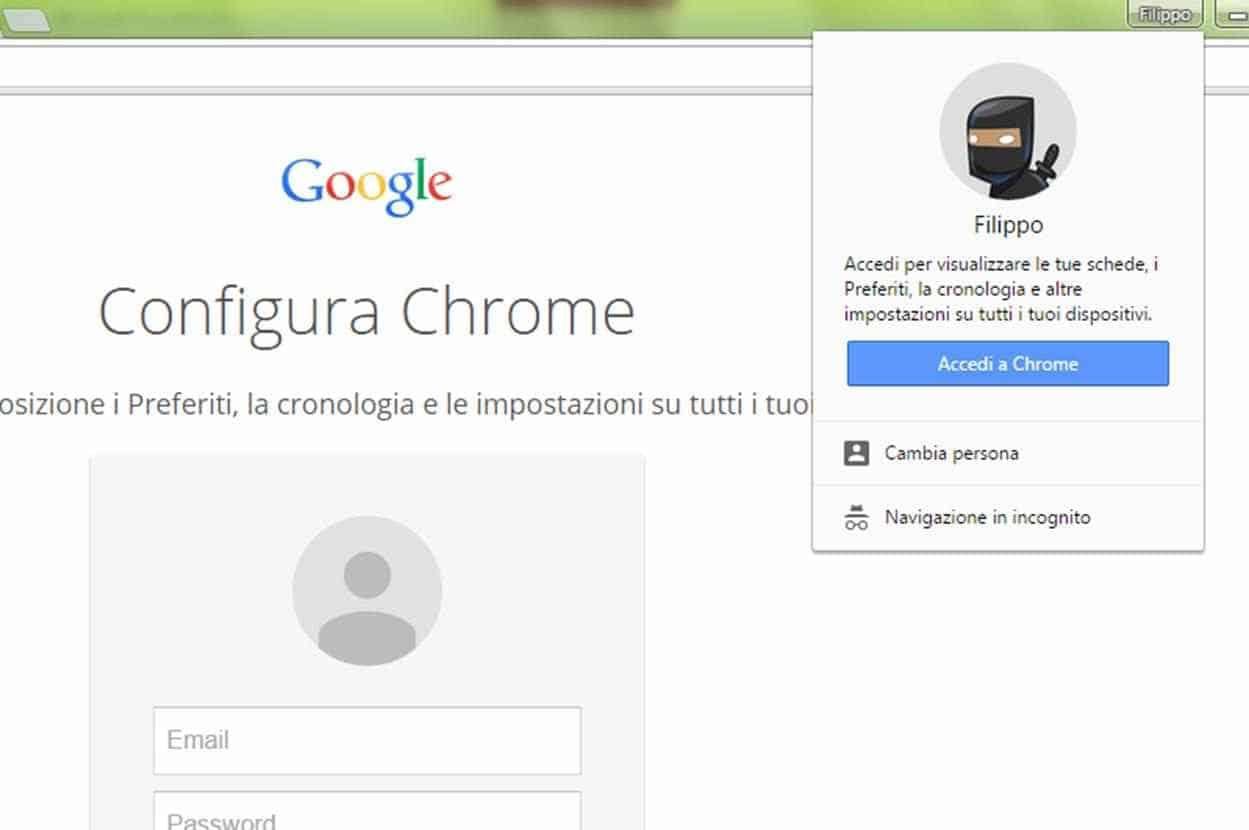 Profili utente Chrome