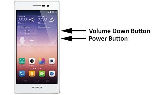 Huawei screenshot