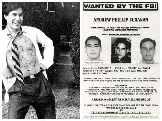 Wanted by the FBI Cunanan