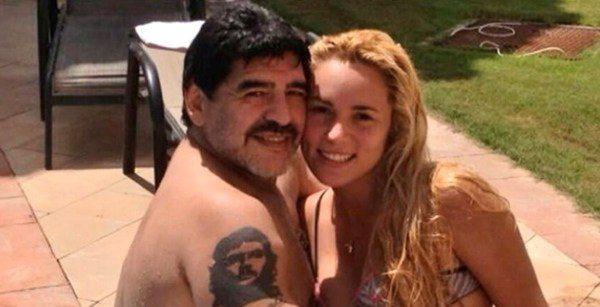 Maradona e Rocio Oliva
