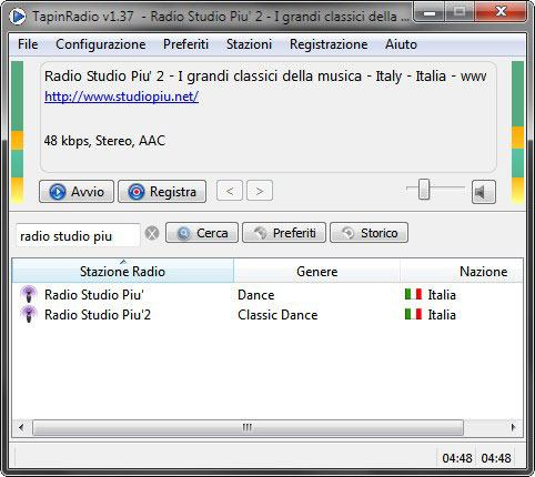 TapinRadio Registra