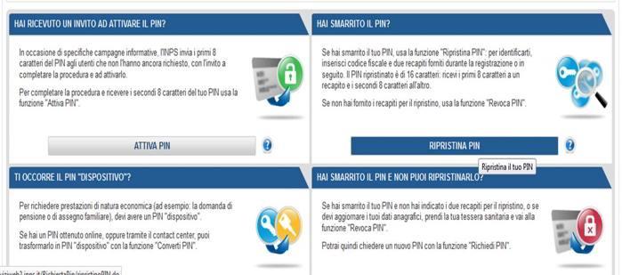 www.inps.it servizi online per il cittadino codice pin