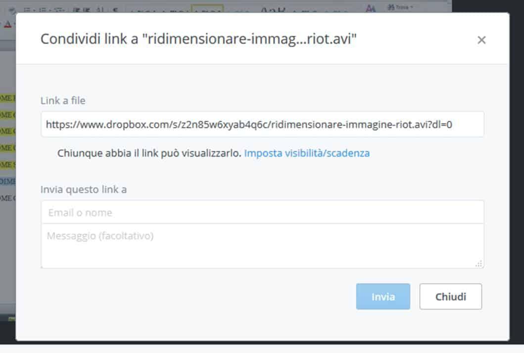 Condivid link dropbox