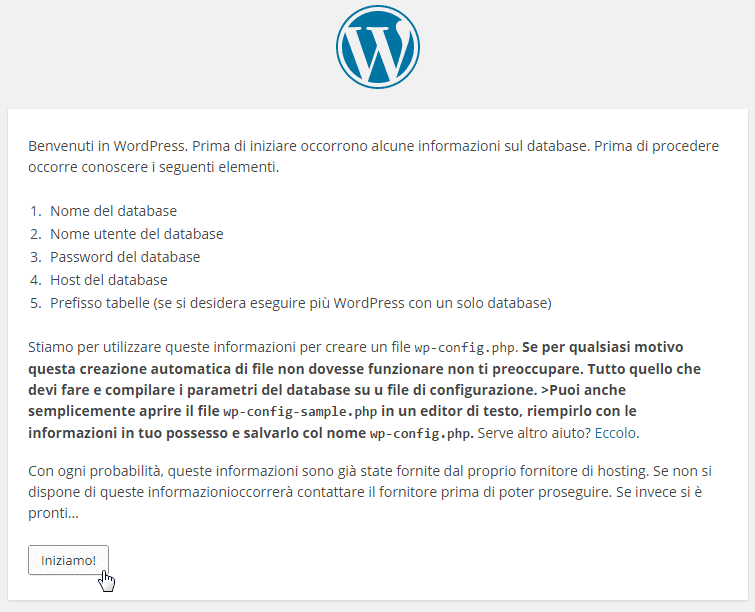 WordPress inoziamo