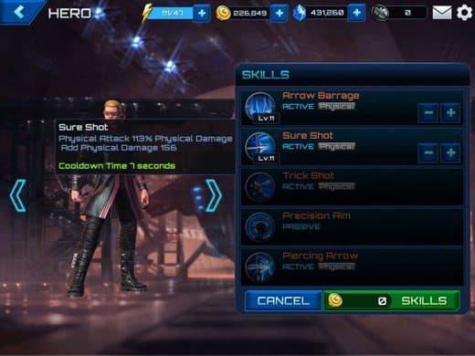 Marvel Future Fight skills