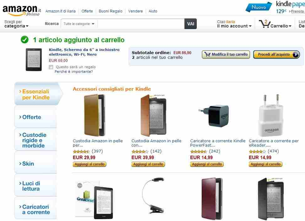Carrello di Amazon