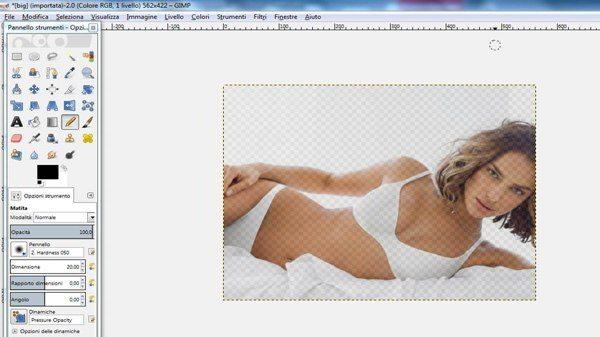 Effetto sfumatura in GIMP