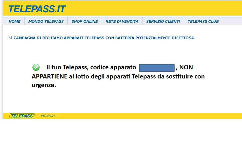 verifica telepass