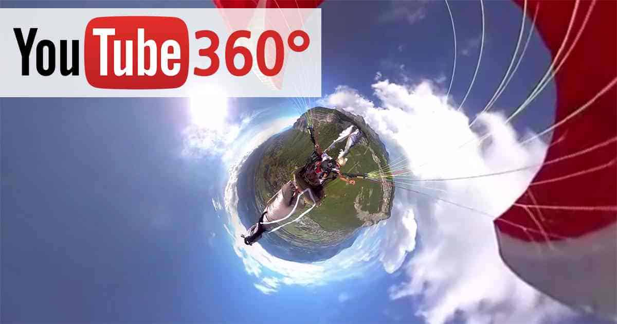 YouTube 360 gradi