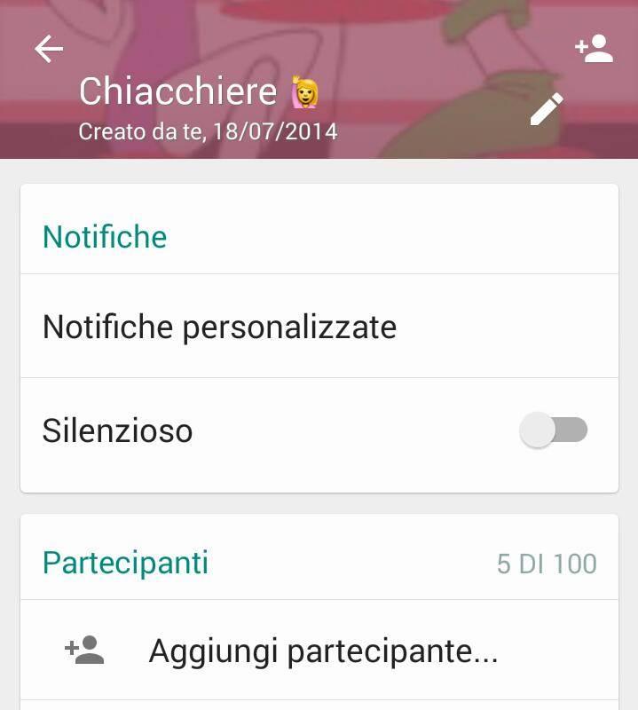 Silenzioso gruppo WhatsApp