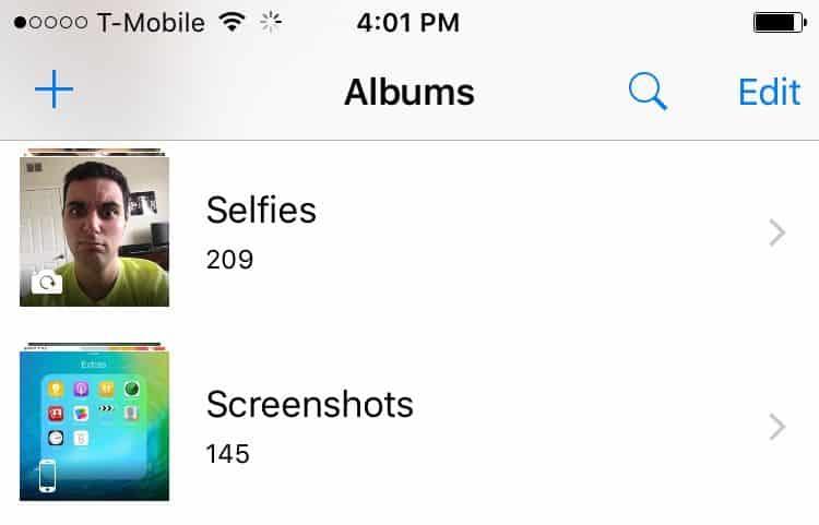 Selfie e Screenshot
