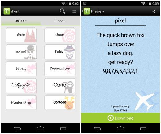 iFont per Android