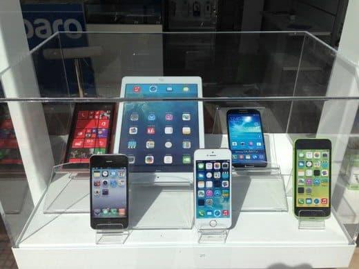 smartphone vetrina
