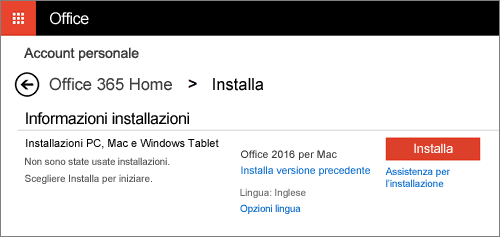 Office 2016 Installa