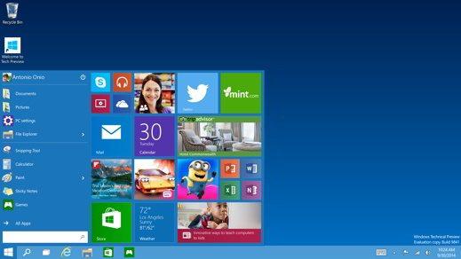 Windows 10 personalizzare menu Start