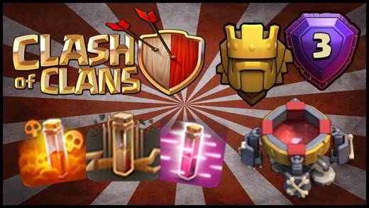 Gli incantesimi in Clash of Clans