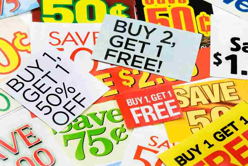Coupon, deals, voucher